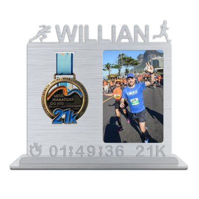 Porta Medalha e Foto Personalizado Com o Nome