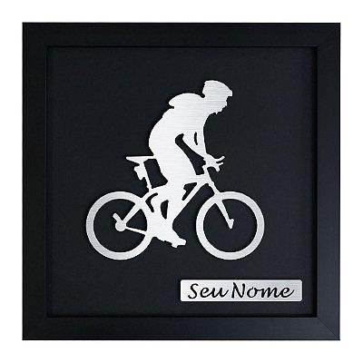 Quadro Decorativo de Mountain Bike Masculino Personalizado