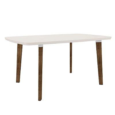 mesa de jantar 6 lugares pé palito altura 78 cm tamanho 170 x 90 cm retangular