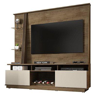 Rack Com Painel Home Para Tv 60 Polegadas Altura 182 cm Largura 180 cm Com Adega