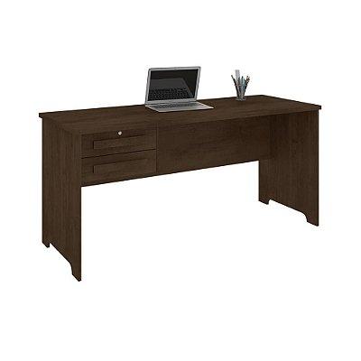 mesa de estudo escrivaninha grande largura 160 cm com chave e 2 gavetas