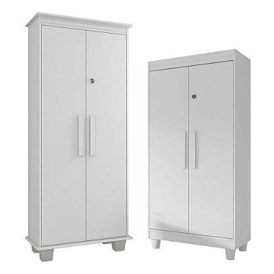 kit 2 armarios de escritório com chave 2 portas