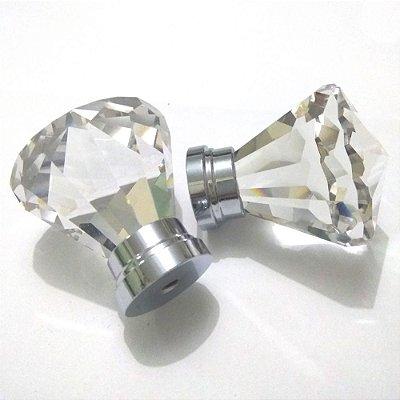 Puxador de Cristal Grande de 50 mm para Cômodas e Gavetas