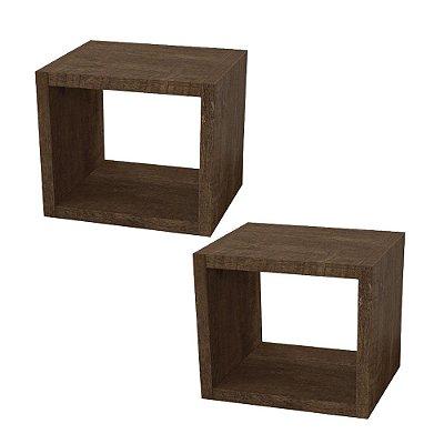 Kit 2 nichos de madeira de alta qualidade decorativos