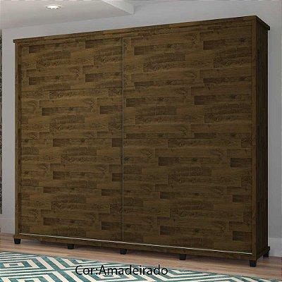 Guarda-Roupas Armário de madeira grande com portas corrediças