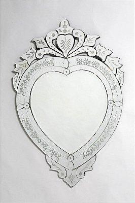 Espelho Para Quarto de Bebê - Veneziano Formato de Coração
