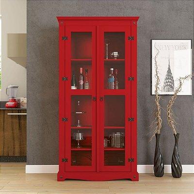 Cristaleira Decorativa Vermelha