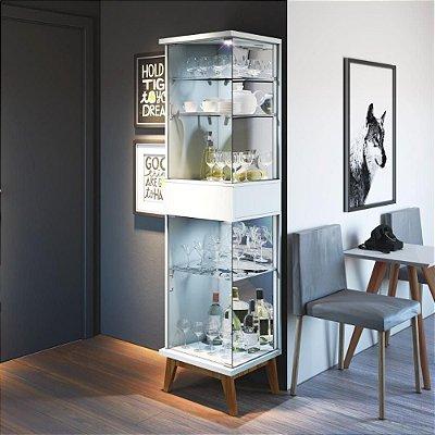 cristaleira de vidro 183 cm para sala de estar