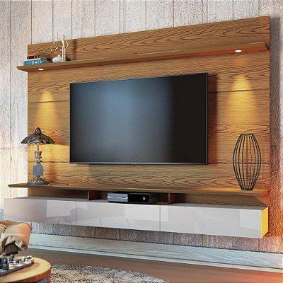 painel para tv sala de parede 218 cm