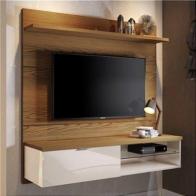painel para tv quarto 136 cm com gaveta