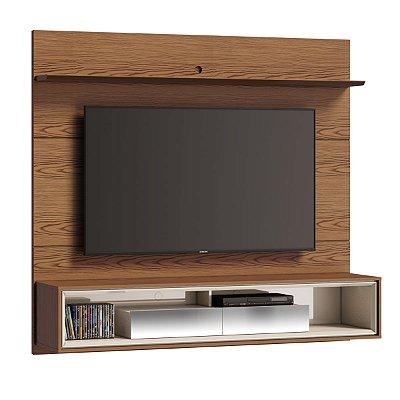 painel para tv sala de estar 182 cm com gaveta espelhada