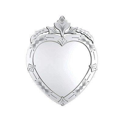 Espelho Veneziano de Coração 50 x 40 cm