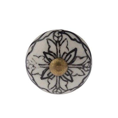 Puxador Decorativo de Cerâmica Redondo 30 mm - 001699