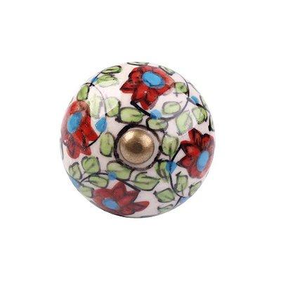 Puxador Decorativo de Cerâmica Redondo 40 mm - 001697