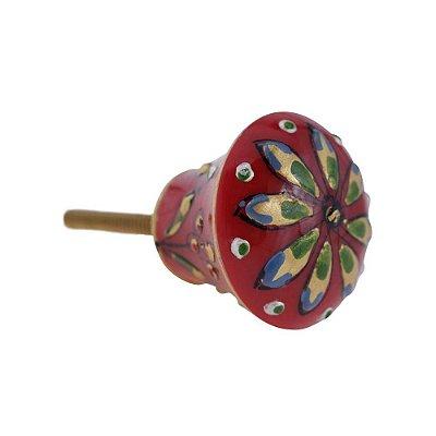 Puxador De Gaveta Decorativo Redondo Comprimento 4 cm Diâmetro 4 cm - 003126