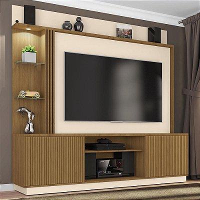 painel tv até 65 polegadas para sala 2 portas com rodas 200 cm profundidade 45 cm