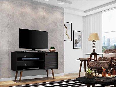 rack tv 50 polegadas + 1 mesa de centro e 2 mesas laterais 1 porta 2 nichos largura 108 cm