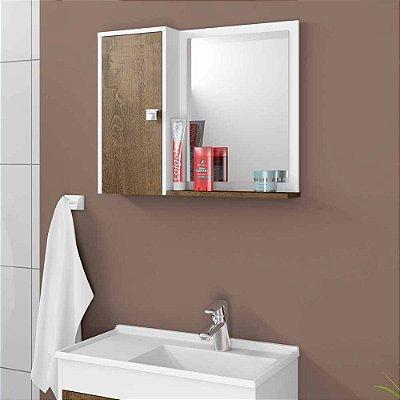 armario de banheiro com porta com prateleira 2 nichos largura 58 cm altura 46 cm MDP
