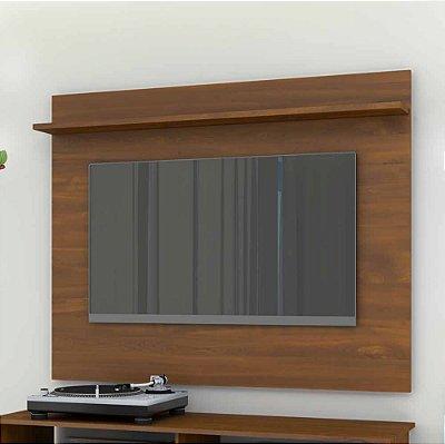 Painel Para Tv 42 Polegadas Com 1 Prateleira Largura 136 Cm Altura 108 Cm De Mdf