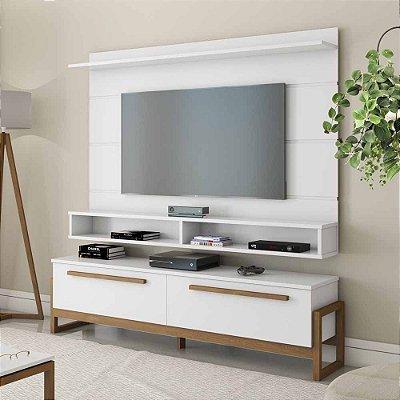 Kit Rack E Painel De Tv 60 Polegadas Largura 180 Cm 1 Porta Com Adega