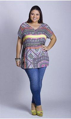 Blusa Mini-Vest com Estampa étnica - BL00006