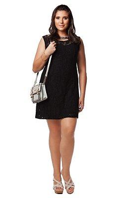 Vestido de Renda Textura de Algodão - 9382