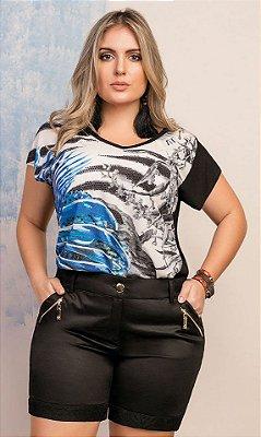 T-Shirt Sublimada com Aplicação de Termocolantes - 3598