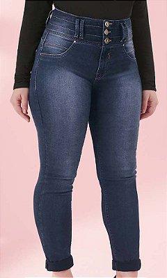 Calça Jeans com Cintura Alta  - 64337
