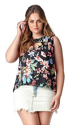 Blusa com Estampa Floral   20299