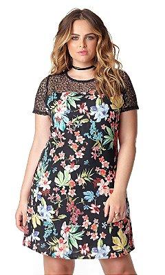 Vestido com Estampa Floral   20300
