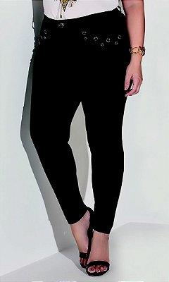 Calça Jeans Skinny com Recortes   17693