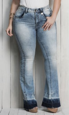 Calça Jeans Flare Power Denim   17741