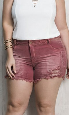 Shorts Jeans Color 3D Destroyed   17732