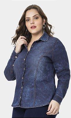 Camisa Jeans Manga Longa   60220