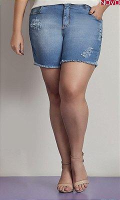 Shorts Jeans com Barra Desfiada   824184