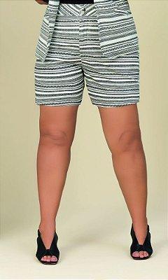 Short Branco Ethnic Stripe   20521