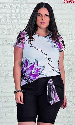T-Shirt Sublimada com Frufru na Lateral   31189