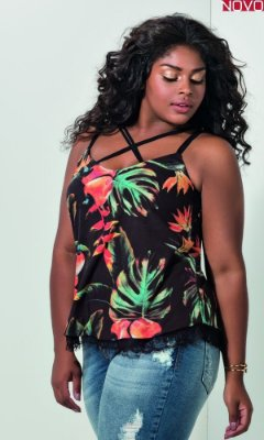 Blusa Dupla Face com Transpasse no Decote   31199