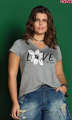 T-Shirt com Estampa Sublimada   31304