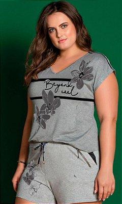 T-Shirt com Estampa Localizada   31312