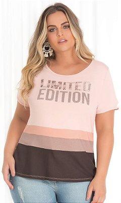 Blusa Estampada com Detalhe em Silk Bordado   20577
