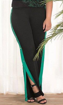Calça Pantalona com Detalhe na Lateral   20614