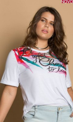 T-Shirt com Estampa Sublimada   31269
