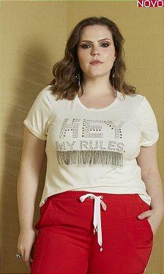 T-Shirt com Detalhe de Termocolantes   31308