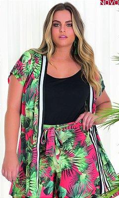 Kimono com Estampa Sublimada Tropical   20589