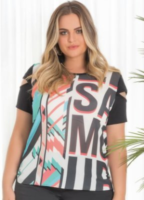 Blusa com Estampa Sublimada    20620