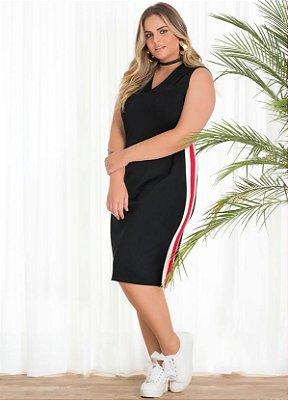 Vestido Midi com Detalhe na lateral   20691
