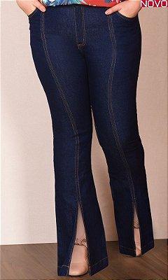 Calça Jeans Flare com Abertura Frontal   20777