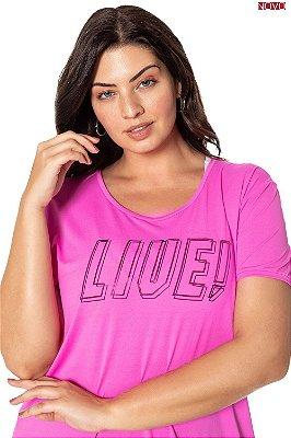 Blusa Pink com Estampa Termocolante LIVE   83443