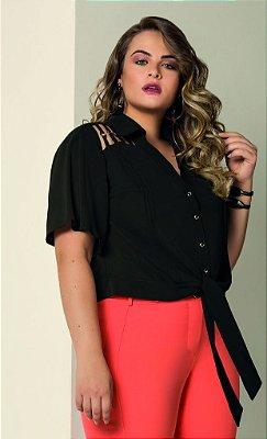 Camisa com Amarração Frontal     06654